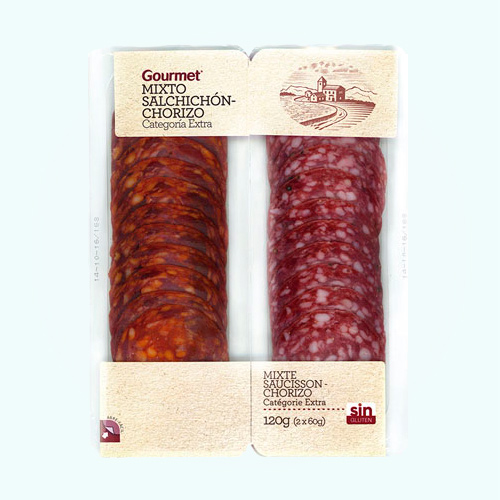 Gourmet Salchichon/Chorizo Lonchas 2*60G