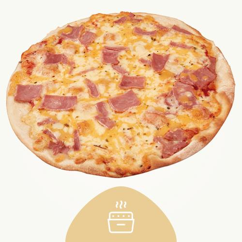 Pizza Fina Jamon Y Queso 330G - Recién Horneada