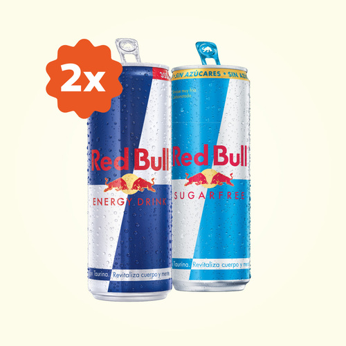 Dos Red Bull 355Ml